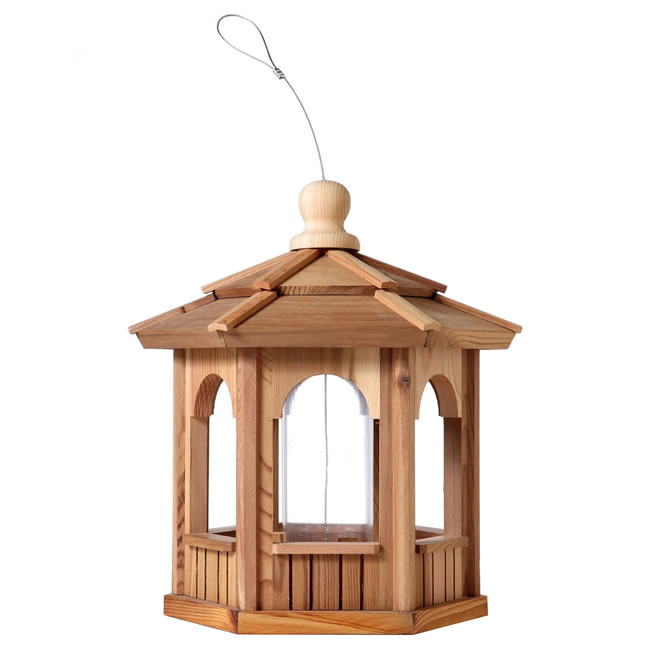 Six Sided Hexagon Cedar Birdfeeder