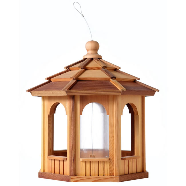 Eight Sided Octagon Cedar Birdfeeder