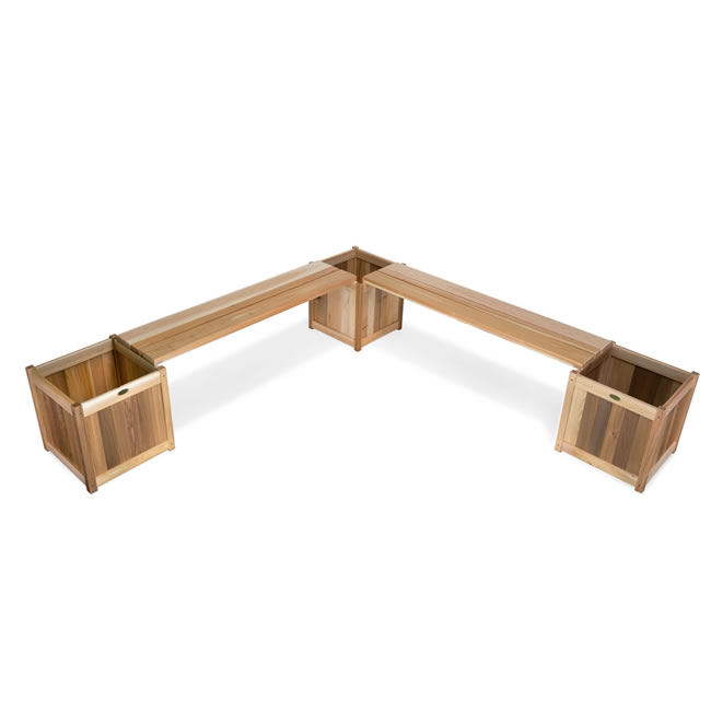 Five Piece Planter with Benches