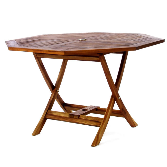 Teak Octagon Patio Table