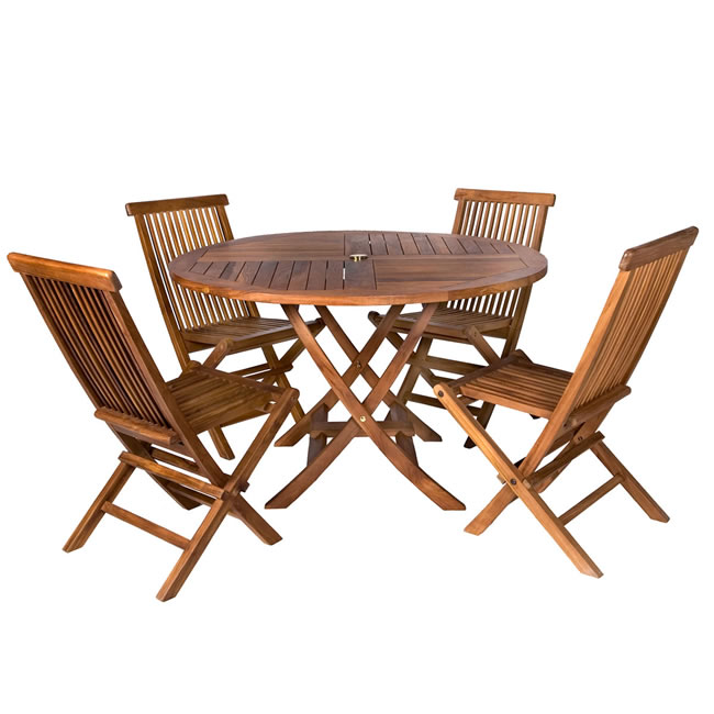 Teak Patio Table Set (5 piece)